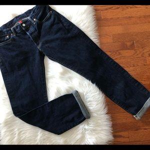Uniqlo Button Fly Dark Wash Men's Jeans Size 34